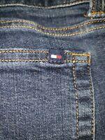 *EUC*👖TOMMY HILFIGER sz10 womens Denim Jeans,Curve Bootcut,Dark Wash, Stretch.