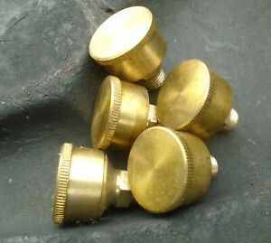 """Antique 5 NOS 1"""" Brass Greasers Hit Miss Engine"""
