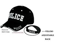 Deluxe POLICE Embroidered Adjustable Baseball Hat Ball Cap  BOXED