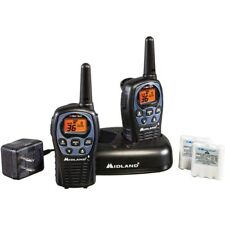 Midland 26 Mile Two Way Walkie Talkie Radio Set NOAA Weather + Charger LXT560VP3