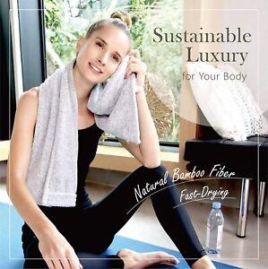 Premium Bamboo Towel | Multi-Use Gym Towel, Camping Towel, Hair Drying, Travel