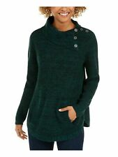 Style & Co. Womens Sweater Green Size PP Petite Pullover Envelope-Neck $49 029
