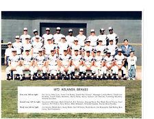 1972 ATLANTA BRAVES TEAM PHOTO AARON CEPEDA BASEBALL GEORGIA  USA MLB HOF