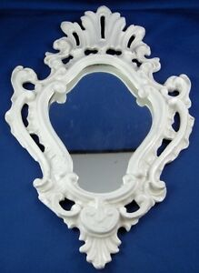 Antique 19thC English Fancy Ceramic Frame for Mirror / Painting England Pottery