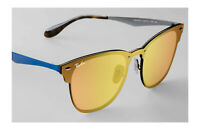 New Ray-Ban RB3576-N 9037/7J BLAZE CLUBMASTER BLUE ORANGE MIRROR FLASH