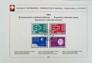SWITZERLAND1963 SCHWEIZ POSTMARKEN-TIMBRES -POSTE SUISSES FRANCOBOLLI SVIZZERI