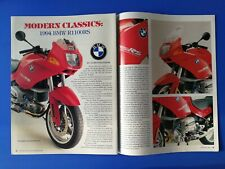 1994 BMW R1100RS Motorcycle - Original 7 Page Article