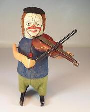 Schuco Tanzfigur Clown mit Geige Uhrwerk Vorkrieg Made in Germany Nr. 3 #1132