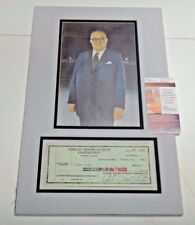 Chicago Black Hawks Hockey Owner Arthur Wirtz HOF Signed Matted Check JSA COA