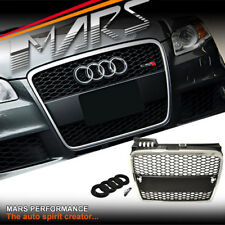 Chrome Black RS HONEYCOMB FRONT BUMPER GRILLE GRILL for AUDI A4 B7 Sedan Avant