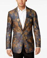 Tallia Charcoal Gold Floral Sport Coat Jacket Mens Size 36R