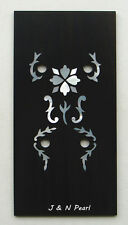 Hearts &Flowers Mother of Pearl Inlaid A Ebony Squared Overlay for Gibson Banjo