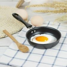 Mini Cooking Portable Pan Non-Stick Iron Frying Pan Long Handle Making Breakfast