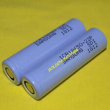 2PC Samsung ICR 18650 22P 2200mAh 3.7V Li-ion 10A battery for high drain device