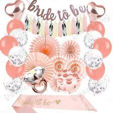 Peach Bridal Shower Decorations Rose Gold Bachelorette Party Bride to Be I 39PCs