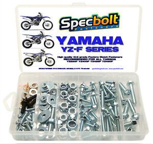 120pc Bolt Kit Yamaha YZF450 YZF250 YZF400 YZ 250F 400F 426F 450F Fenders engine