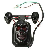 2X(Skull Motocycle Tail Brake Turn Indicator Integrated Light Motorbike Black 2*