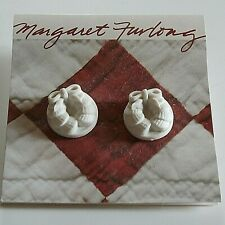 "Margaret Furlong - Bisque Porcelain Earrings - ""Shell Wreath"" - New"