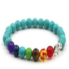 Pray Mala Buddhism Bless Energy 8Mm Turquoise Buddhist Bead Bracelet Yoga