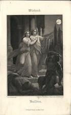 Stampa antica WIELAND Balsora 1860 Old antique print Alte stich