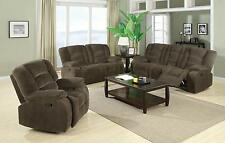 Coaster Furniture 600991 992 993 Charlie 3 Piece Reclining Sofa Set