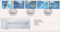 GB ROYAL MAIL FDC FIRST DAY COVER 1997 ARCHITECTS OF THE AIR STAMP SET CAMBRIDGE