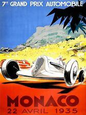 PRINT POSTER SPORT EVENT RACE ADVERT GRAND PRIX CAR AUTOMOBILE MONACO NOFL1061