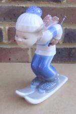 LLADRO skieur Puppet figurine