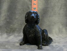 Flat-Coated Retriever Plaster Dog Statue Hand Cast And Painted By T.C. Schoch