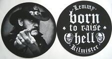 Motörhead DJ SLIPMAT Feltro Tappeto Lemmy Kilmister/Born to Raise Hell - 2er Set