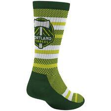 Portland Timbers MLS Adidas Men's Stripe Polka Dot Pattern Green Crew Socks