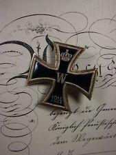 Eisernes Kreuz 1.Klasse 1914 emailliert - 3 teilig EKI Deutsch 1WK gealtert