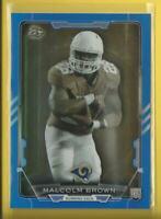 Malcolm Brown RC 2015 Bowman BLUE FOIL Rookie Card #'d / 499 Los Angeles Rams