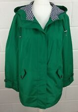 CENTIGRADE EMERALD GREEN HOODED COAT - SIZE L