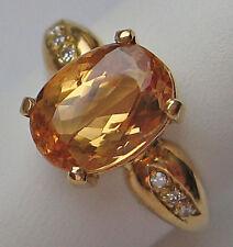 WoW ♛★ Nice ♛ Ring aus 18kt 750 Gold mit Diamant Brillant Top Citrin Diamonds ★♛