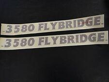 "CRUISERS YACHTS 3580 FLYBRIDGE DECAL PAIR (2) BURGUNDY 23 1/2"" X 2"" MARINE BOAT"