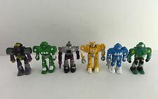 "VTG Robots 2"" Figures PVC Rubber Soma Z-bots Micro Machines Knock Off Lot of 6"
