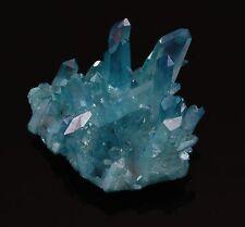 """AQUA AURA QUARTZ Crystal Cluster Iridescent 21 g 1.80""""w/ Healing Property Card"""