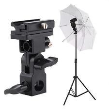 180°Flash Hot Shoe Umbrella Holder Swivel Bracket Mount Light Stand Type B DSLR