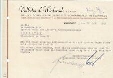 WALSRODE, Brief 1945, Volksbank Walsrode eGmbH
