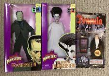 Hasbro Universal Monsters FRANKENSTEIN & BRIDE OF FRANKENSTEIN New 1998 Dracula