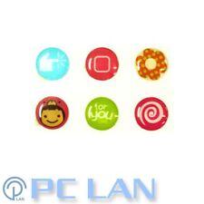 6 PCS Girl Flower Mixed Patterns Home Button Sticker for iPad 1/2/3/4 +Bonus Set
