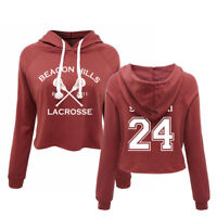 Teen Wolf Beacon Hills Lacrosse Women's Pullover STILINSKI Cropped Hoodies