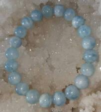 8mm Aquamarine Stone Bracelet For Both Men & Women Powerful And Beautiful Gift