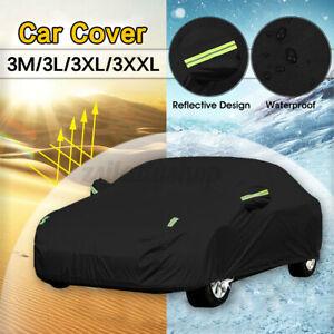 5.3m Full Car Cover Sedan Scratch UV Rain Snow Dust Resistant Waterproof
