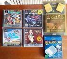 Lot 5 Jeux PS 1 Complets + notices + 3 cartes mémoire 1 MB voir description