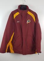 Vintage Men's NFL Washington Redskins Padded Long On Field Jacket Size L Winter
