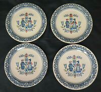 Johnson Bros Hearts and Flowers Staffordshire Old Granite 4 Bread Plates Set