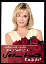 Saskia Valencia Rote Rosen Autogrammkarte Original Signiert## BC 5601