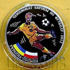 Transnistria Ukraine Poland UEFA EURO 2012 1Oz Silver Proof Coin Football Soccer